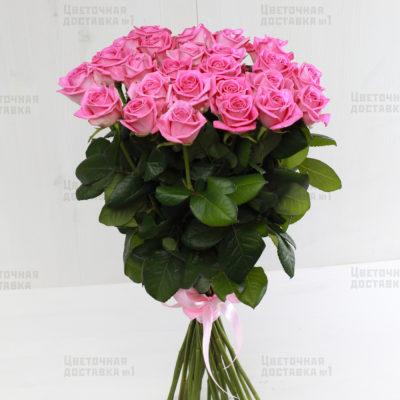 Купить 25 розовых роз в СПб недорого