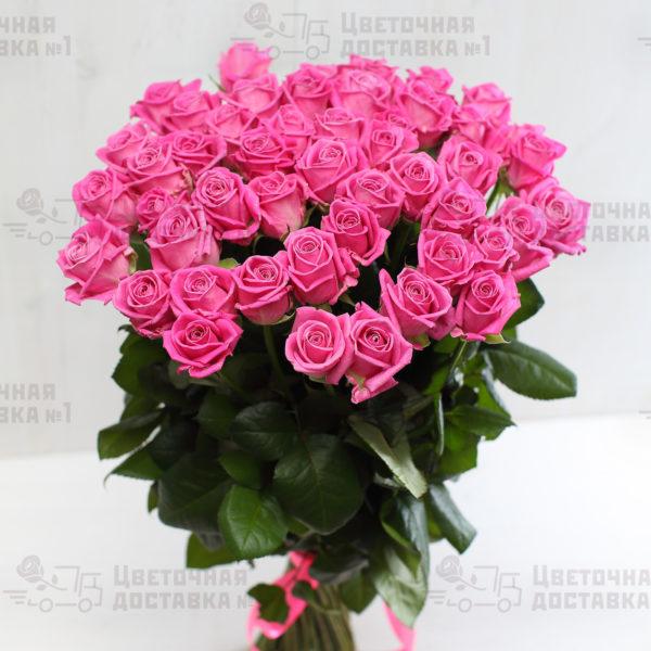 51 розовая роза в СПб дешево