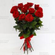 15 розочек красного цвета с доставкой в СПб