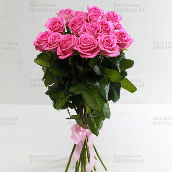 15 розовых роз с доставкой в СПб