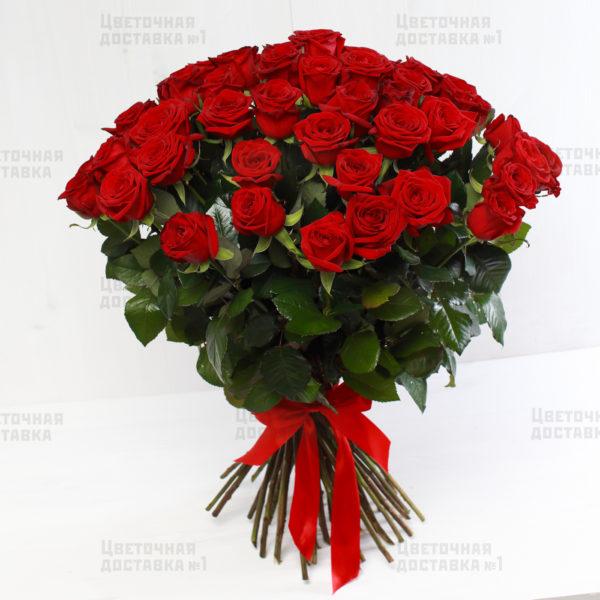 51 красная роза с доставкой