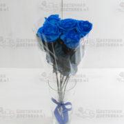 Синяя роза в букете 5 шт.