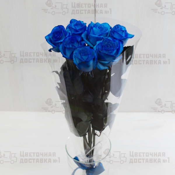 7 синих роз в СПб