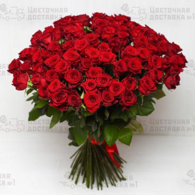 Купите 101 розу красного цвета в магазине с доставочкой