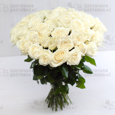 51 белая роза в СПб